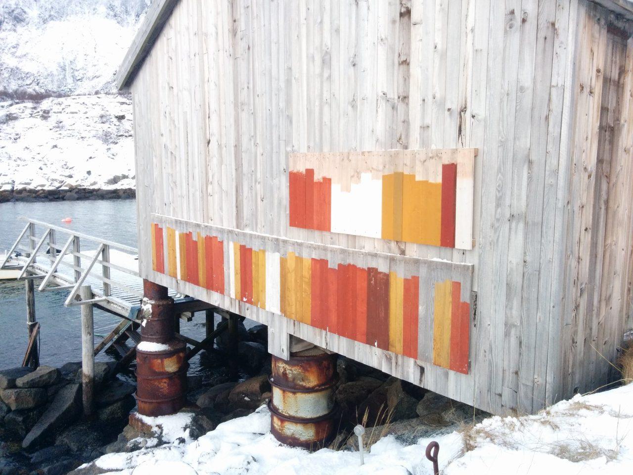 Malingstyper testes utendørs. Bygningsvern Vega