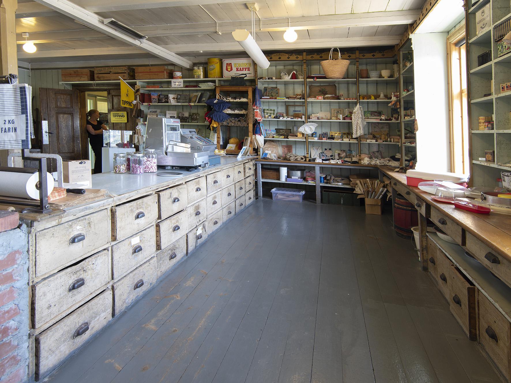 Butikken, Bergh-brygga, Leirfjord