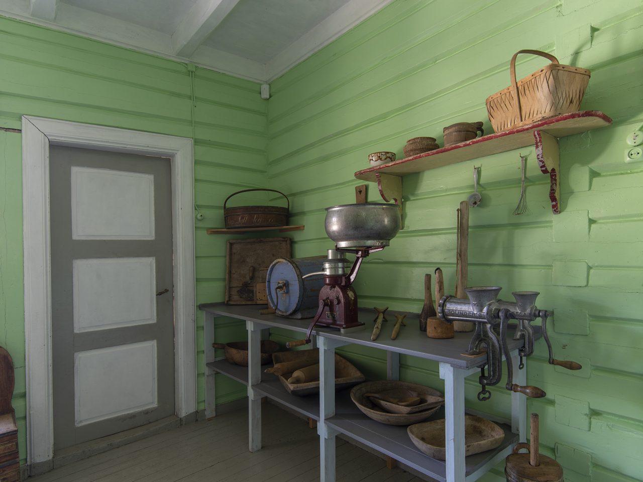 Kjøkkenet på gammelskolen i Leirfjord