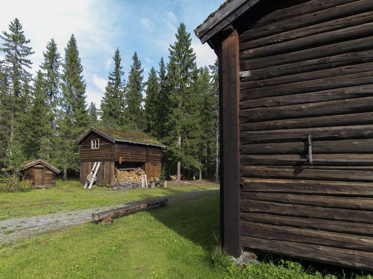 Eldre hus på Grane bygdetun