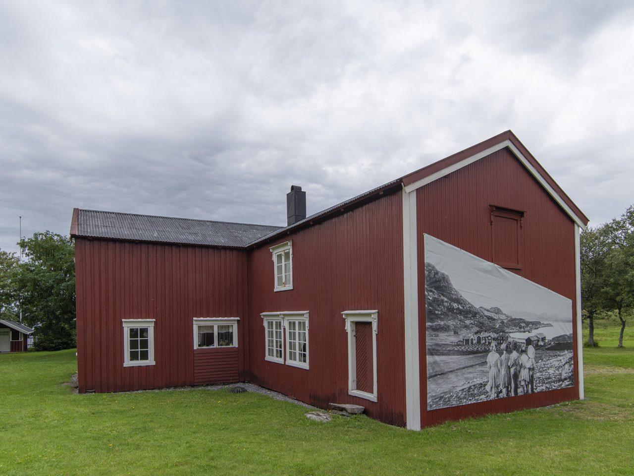 Nordvika hovedbygning utvendig gavl mot øst