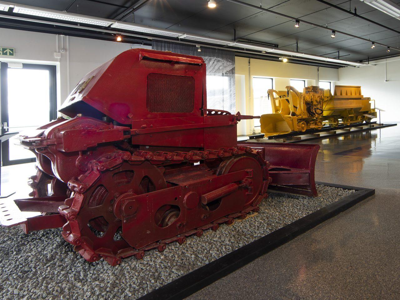 Bulldoser på Rana museum