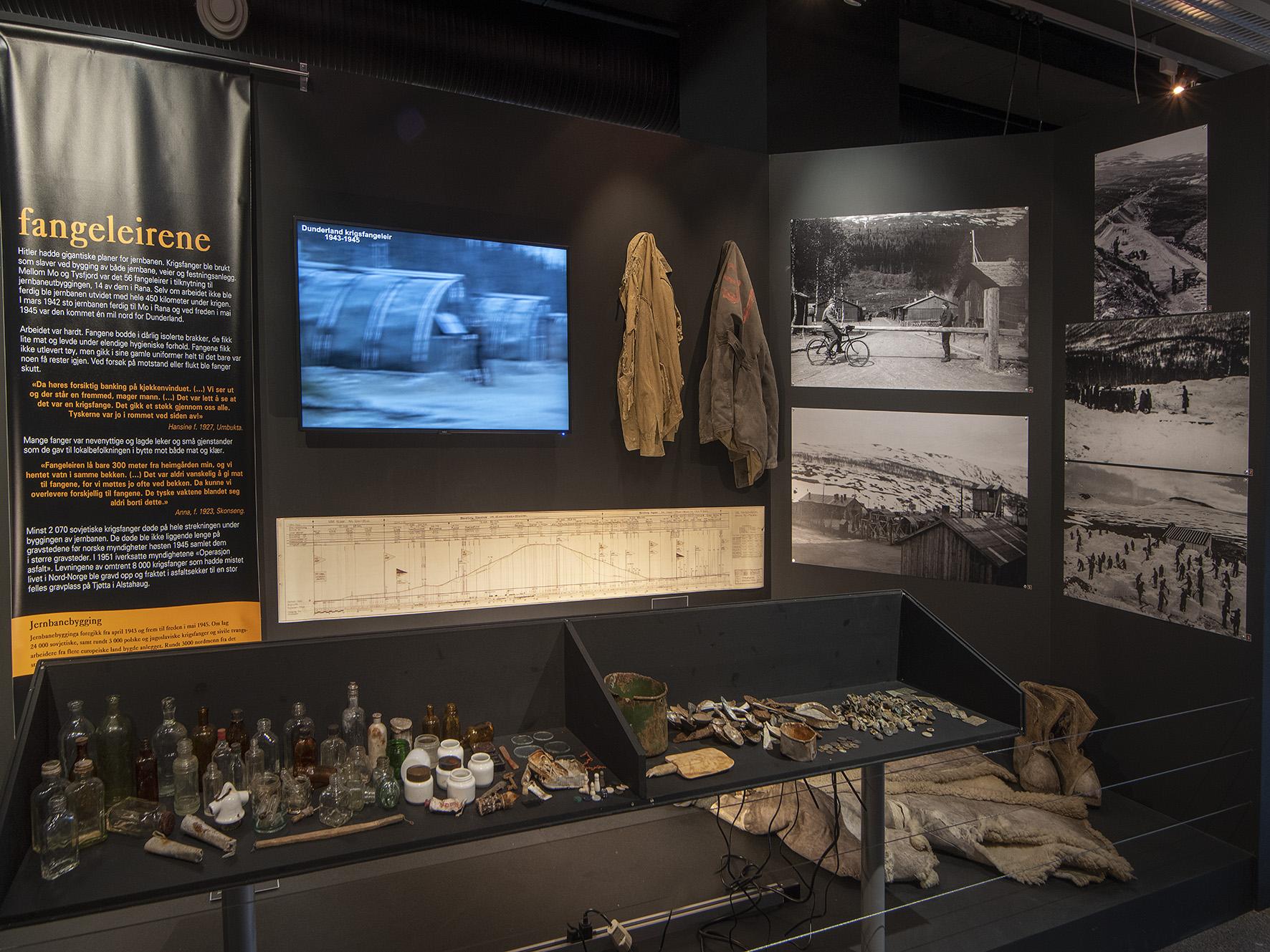 Oversiktsbilde fra utstilling på Rana museum