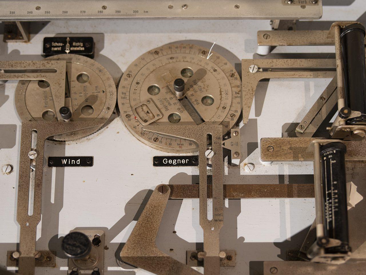 Detalj fra utstilling på Grønsvik kystfort, Lurøy