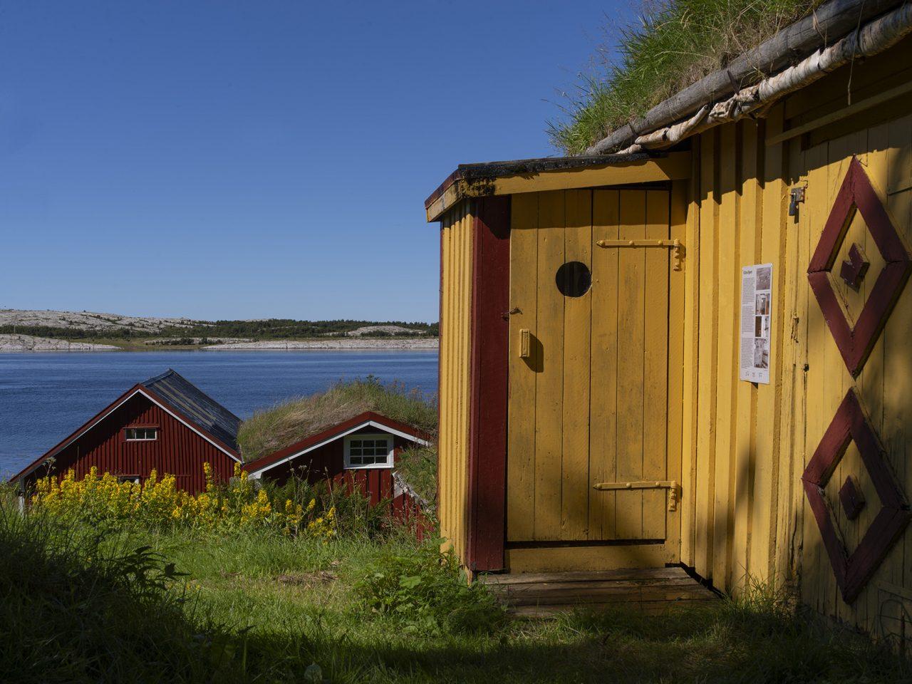 Gult hus på Vevelstad bygdetun