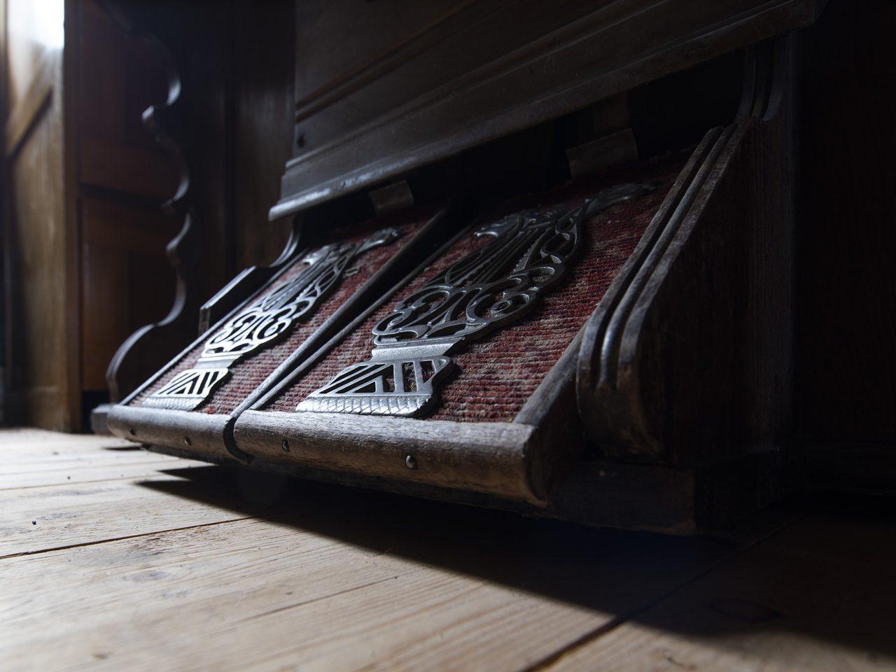 Orgelpedaler på Grane bygdetun