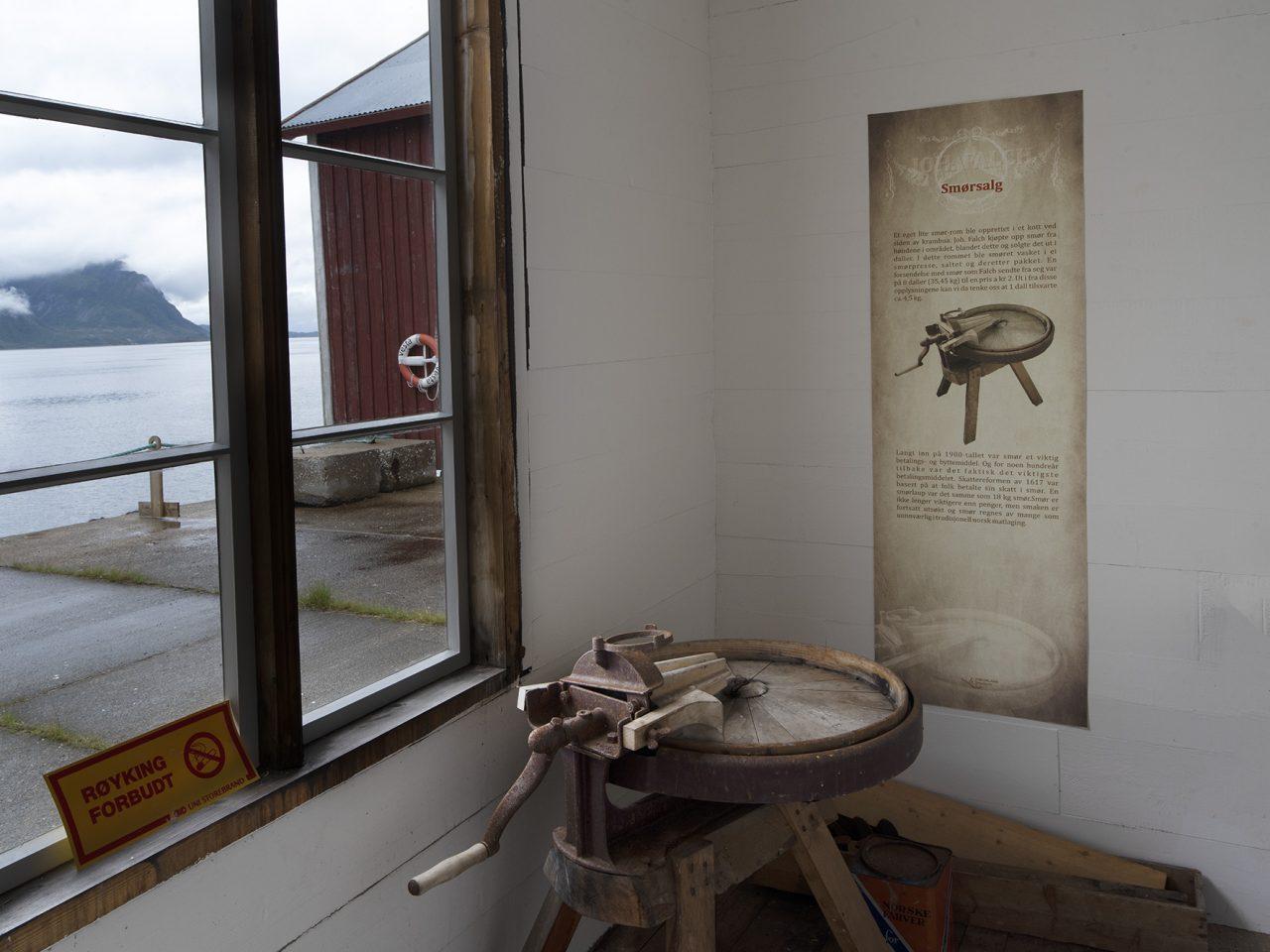 Smørrommet på Falch gamle handelssted, Rødøy