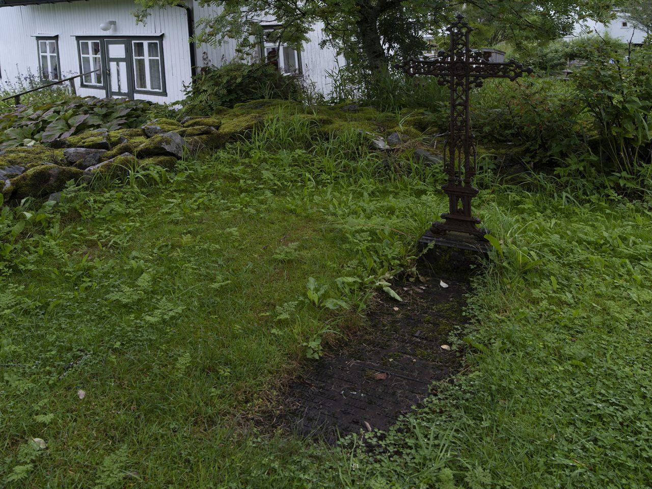 Den gamle kirkegården på Sømna bygdetun