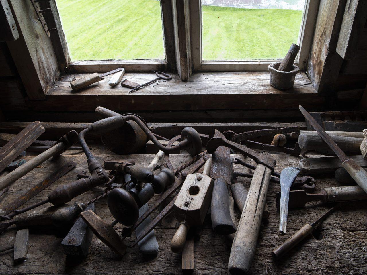 Redskaper og gjenstander på Sømna bygdetun