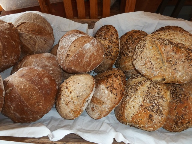 Nybakte brød på Sømna bygdetun