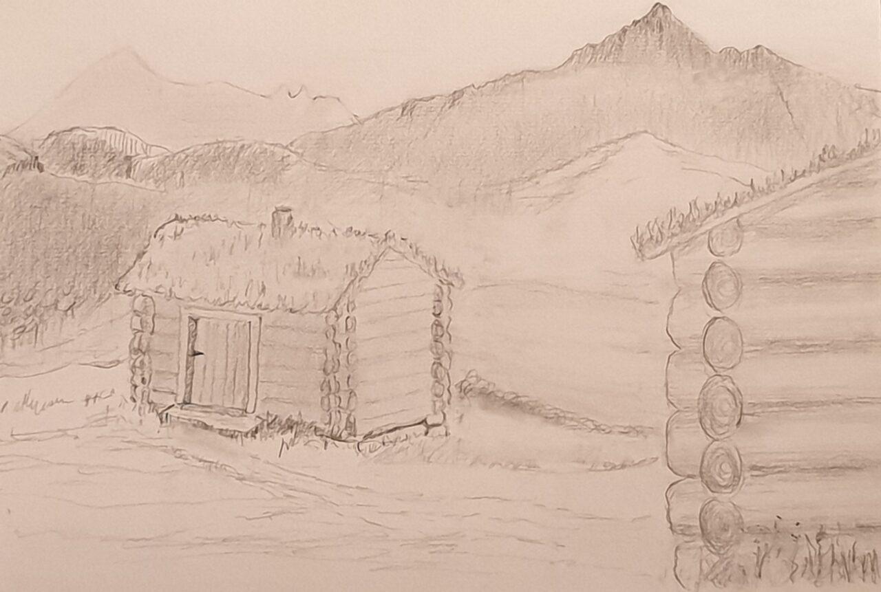 Illustrasjon/tegning i forbindelse med åpning av Sakriannaplassen i Kvina